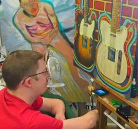 Artist, Logan Madsen, Overcoming Challenges through Art.