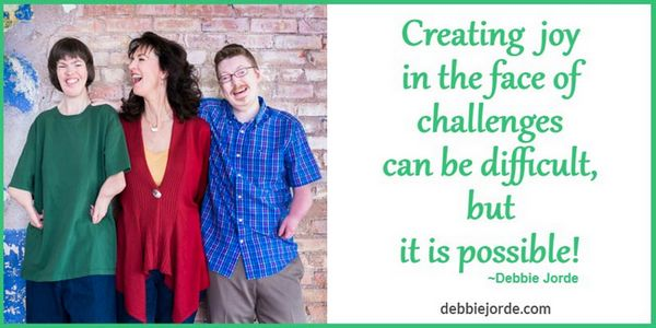Creating joy in the face of challenges can be difficult, but it is possible! Jorde/Madsen family.